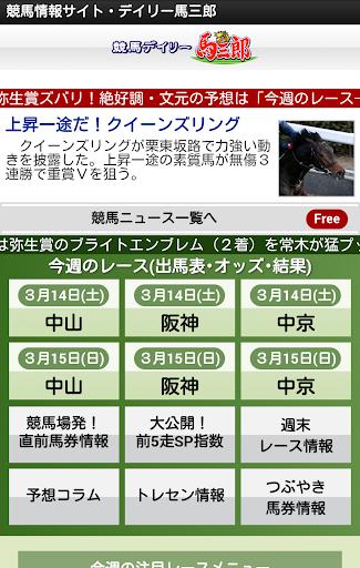 競馬デイリー馬三郎 デイリースポーツの競馬予想・情報アプリ