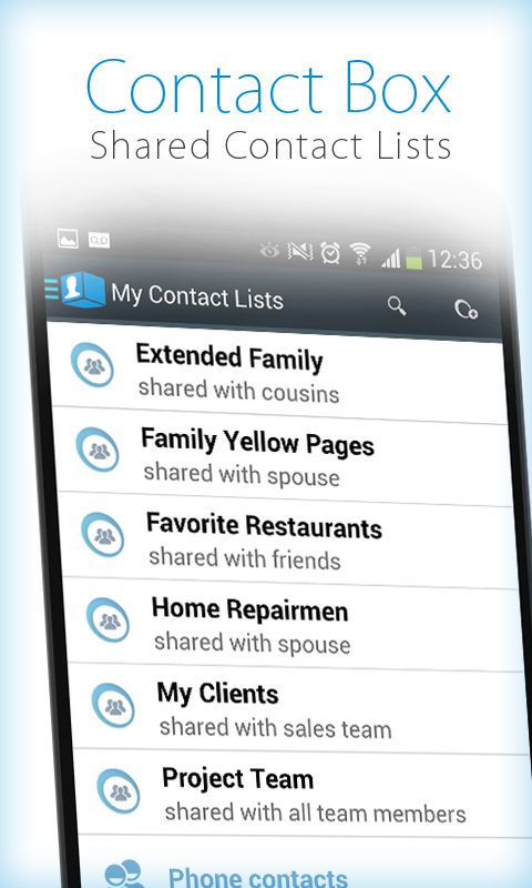 ContactBox - Shared Contacts- screenshot