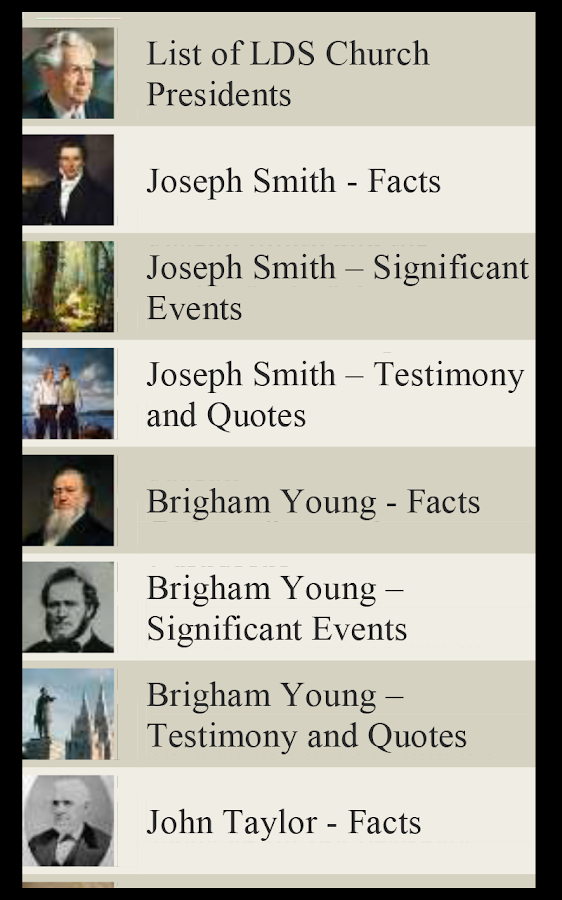 LDS Church Presidents (Mormon)- screenshot