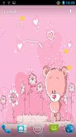 Screenshot of Cute Teddy Bear Live Wallpaper