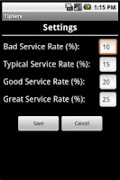 Screenshot of TipServ (Tip Calculator)