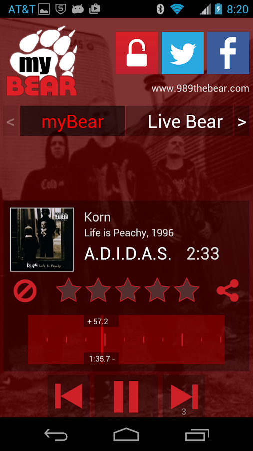 myBear 98.9 The Bear- screenshot