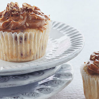 Cranberry Cupcakes with Dulce de Leche Pecan Frosting.