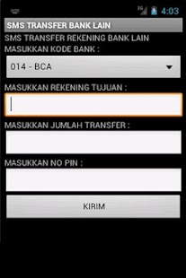 SMS Banking BRI Unofficial - screenshot thumbnail