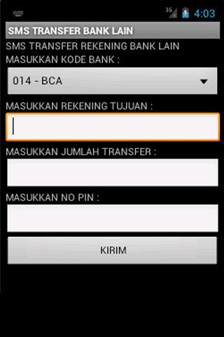 SMS Banking BRI Unofficial - screenshot