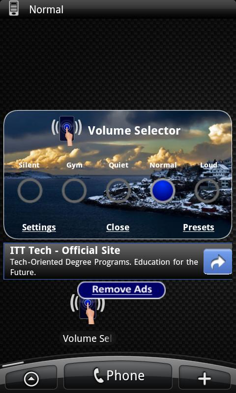 Volume Selector Free - screenshot