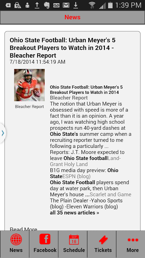 Football News - Ohio State Ed.- screenshot
