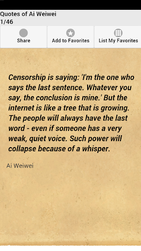 Quotes of Ai Weiwei