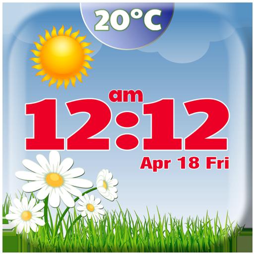 天气の春天気時計ウィジェット LOGO-記事Game