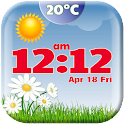 Spring Weather Clock Widget icon