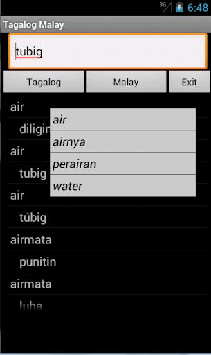 Tagalog Malay Dictionary