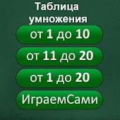 Таблица умножения Играем Сами
