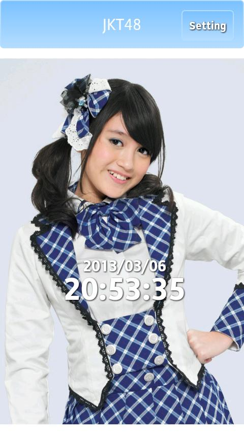 JKT48 Clock - screenshot