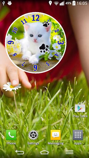 Kitty Clock Widget