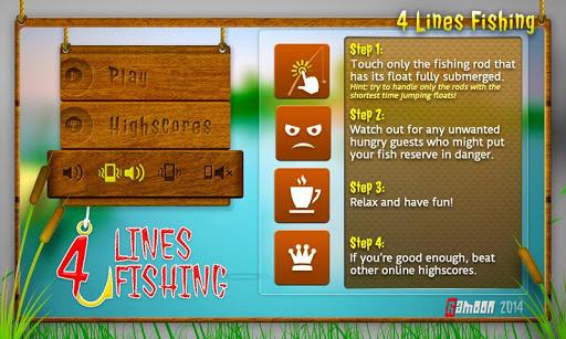 4-lines fishing