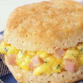 Eggs & Ham Biscuits Recipe