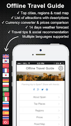 Spain travel guide offline map APK screenshot thumbnail 1