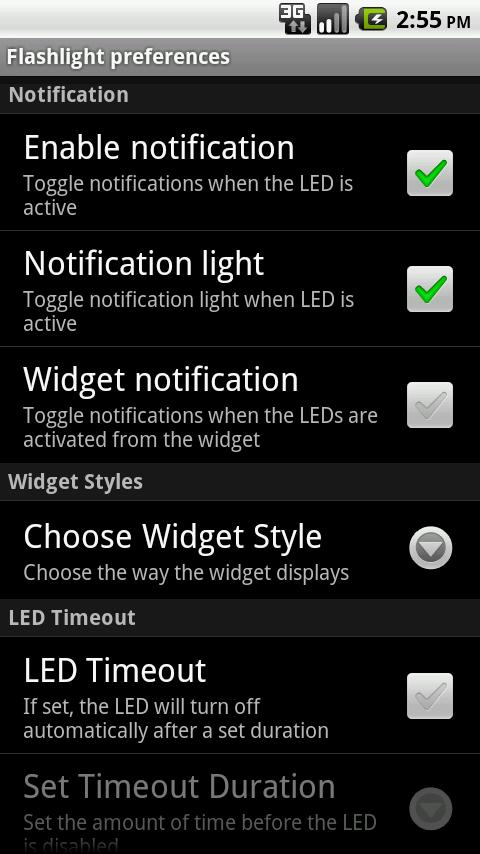 LED Flashlight - screenshot