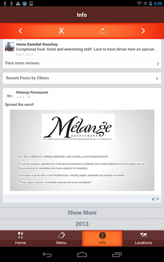 Mélange Restaurant Trinidad- screenshot
