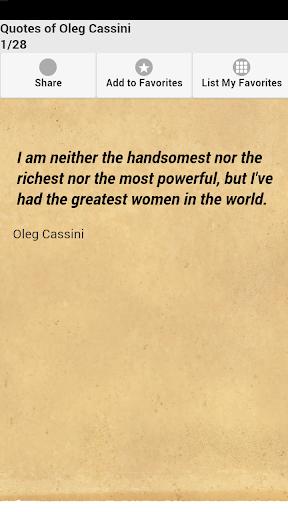 Quotes of Oleg Cassini