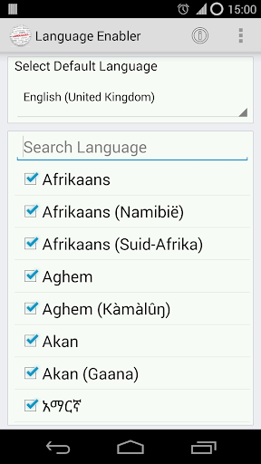 Language Enabler 1