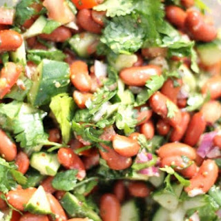 Kidney Bean and Cilantro Salad with Dijon Vinaigrette