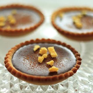 Orange Curd Tartletts With Chocolate Ganache..