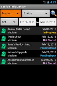 Sparkle Task Manager screenshot 1