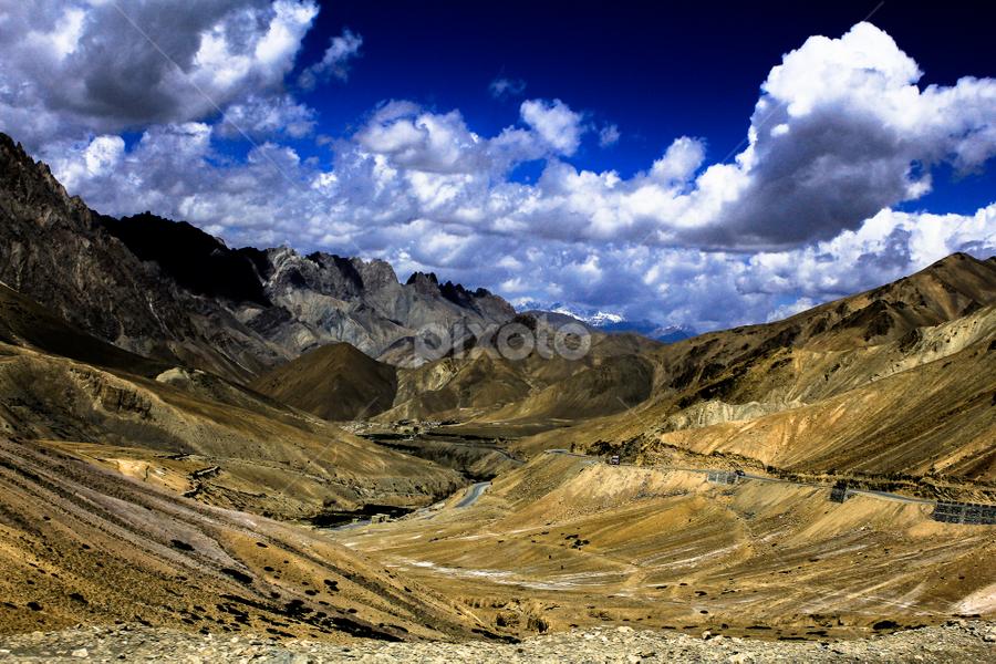 Landscape by Debajit Bose - Landscapes Mountains & Hills ( hills, sky, mountain, blue sky, nature, green, cloud, india, debajit bose, landscape, curves )