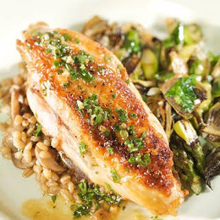 Chicken with White Wine and Herb Sauce.