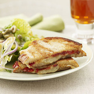 Pressed Manchego Cheese Sammies and Spicy Spanish Salad.