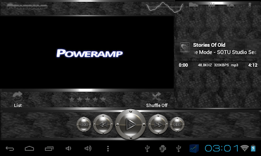 poweramp skin black snake Screenshot 7