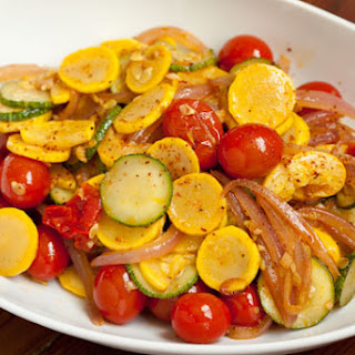 Summer Squash with Tomatoes and Aleppo Pepper