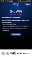 Screenshot of Sky WiFi