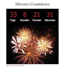 silvester countdown uhr