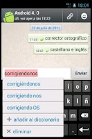 Screenshot of Orthos text service