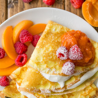 Crepes with Greek Yogurt Cream