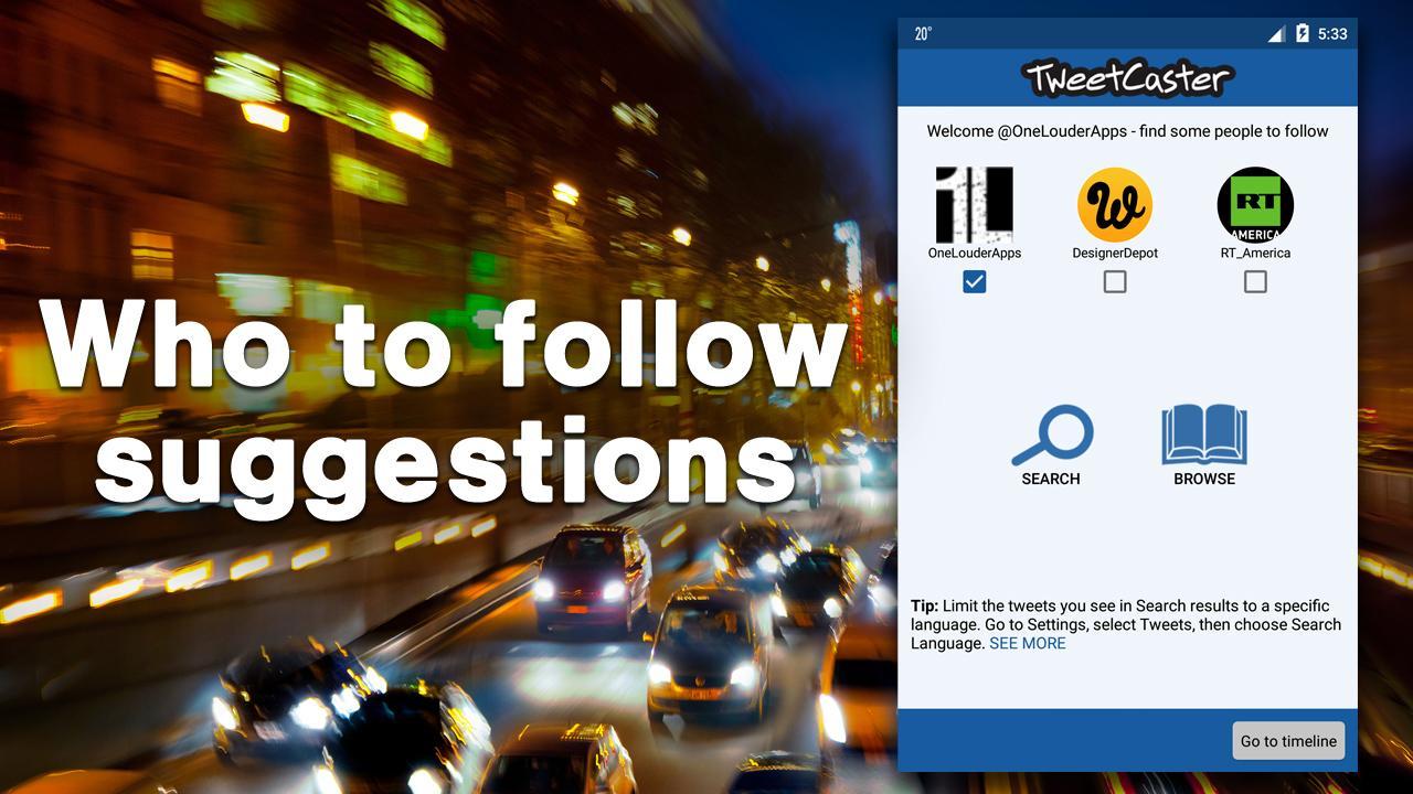 TweetCaster Pro for Twitter- screenshot