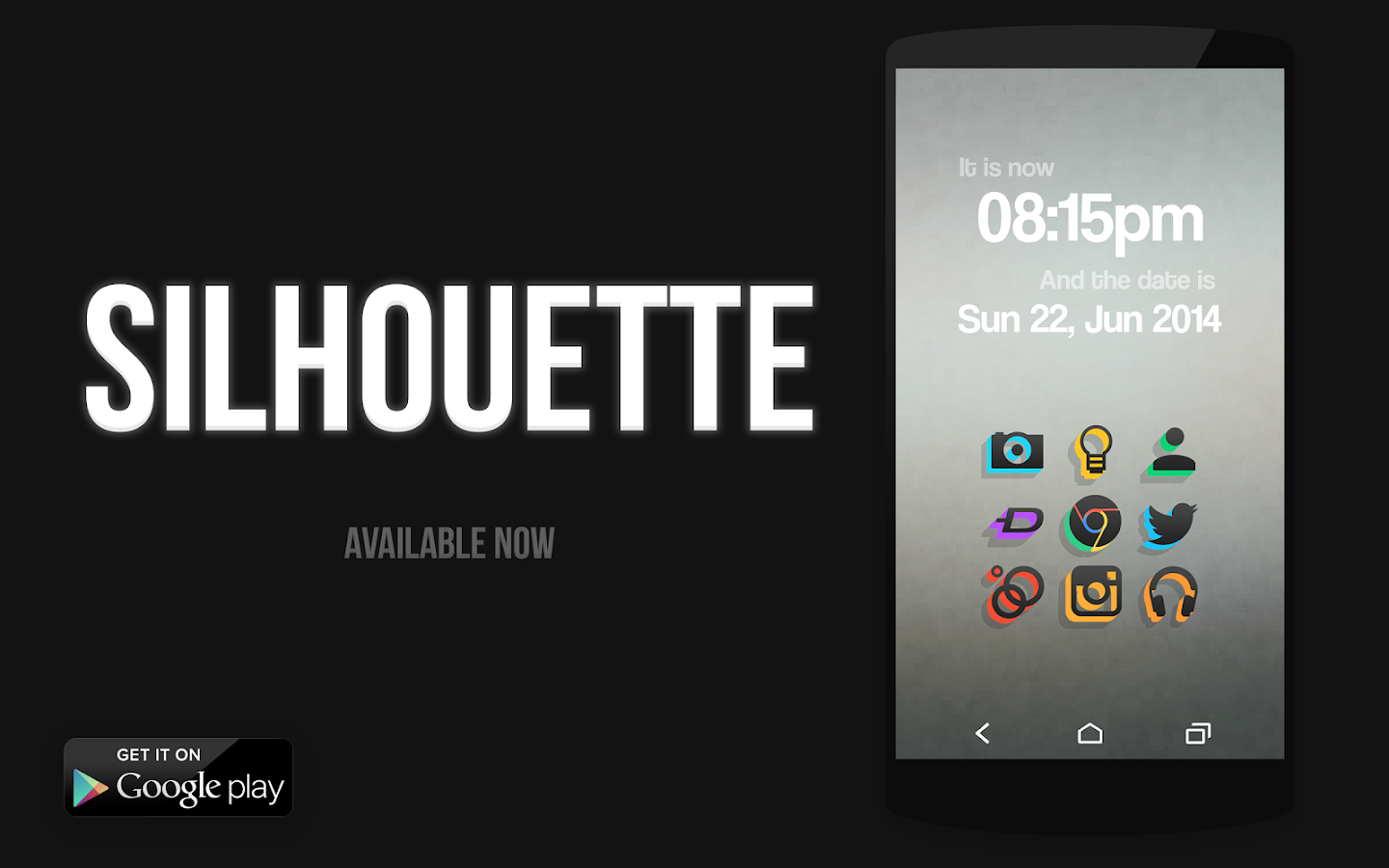 SILHOUETTE Icon Pack- screenshot