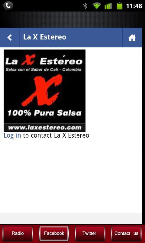 La X Estereo 100% Salsa- screenshot