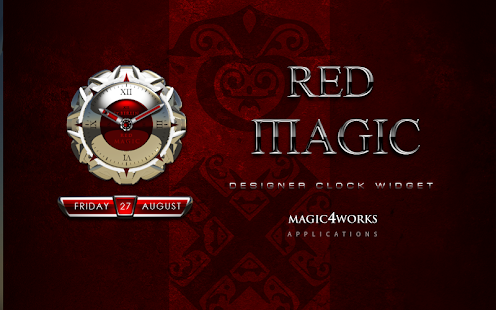 clock widget RED MAGIC
