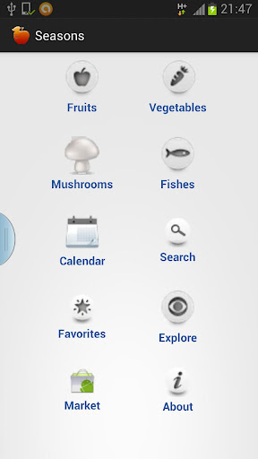 Fruits vegetables seasons