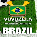 BRAZIL VUVUZELA and ANTHEM! logo
