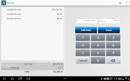 Authorize.Net Mobile POS - screenshot thumbnail
