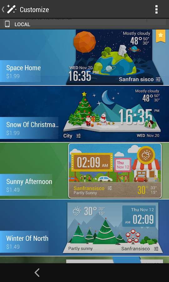 Mini Line Round Clock Weather - screenshot