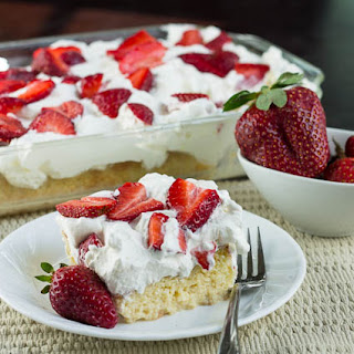 Tres Leches Cake with Strawberries.
