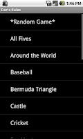 Screenshot of Darts Rules