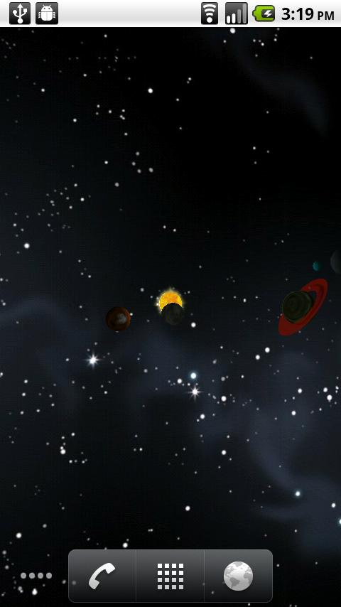 Deep Space LWP - screenshot