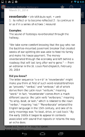 Screenshots for Dictionary  MerriamWebster