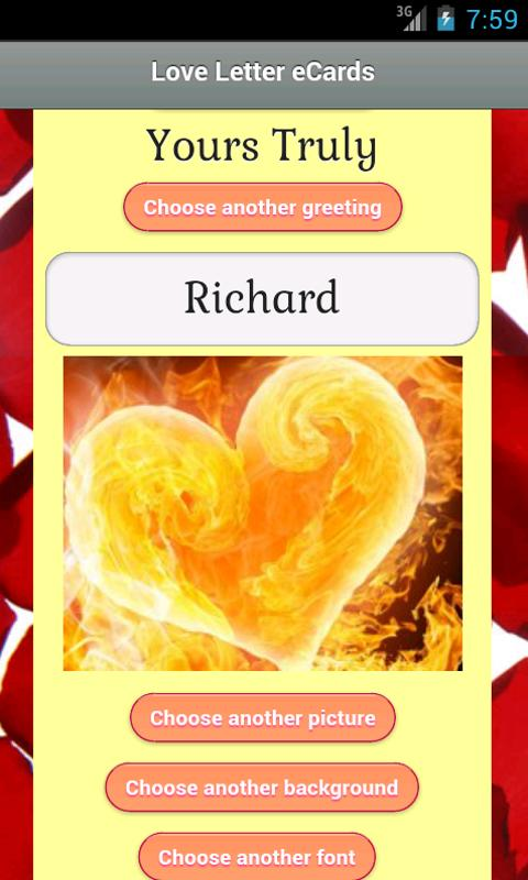 Love Letter eCards - screenshot